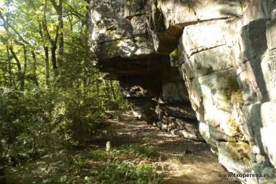 Abrigo habilitado junto al dolmen