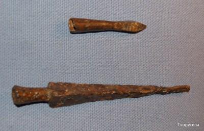 Armadura de ballesta y pica de tipo germánico de Errozabal