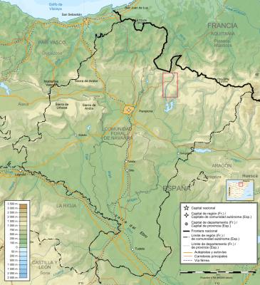 Referencia de la area estudiada en la cuenca del Urrobi