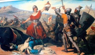 Dramatización de la batalla de Olast, en el Ayuntamiento de Urzainki