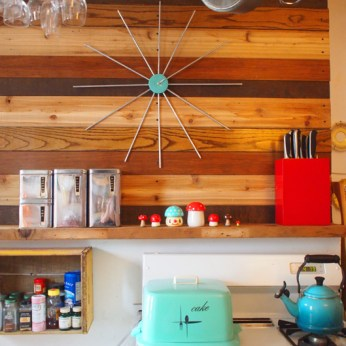Atomic Clock + Reclaimed Wood Wall- MAKE + Curbly