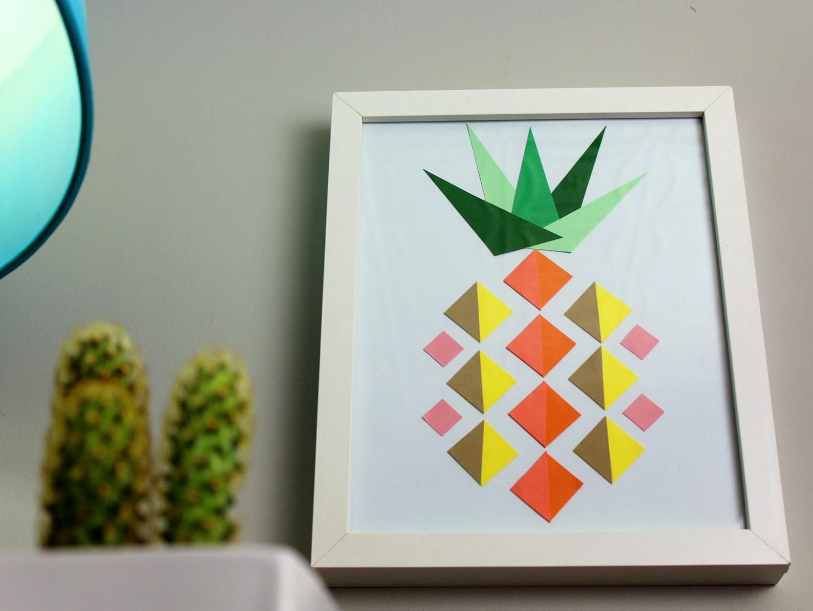 Meg allan cole diy gallery geometric pineapple paper art hgtv handmade solutioingenieria Images