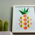 Geometric Pineapple Paper Art- HGTV Handmade