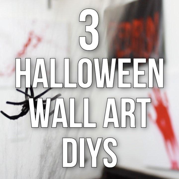 3 Halloween Wall Art DIYs 🕷🕯🕷 Murderino MACC is getting social-cut ready af 🖤