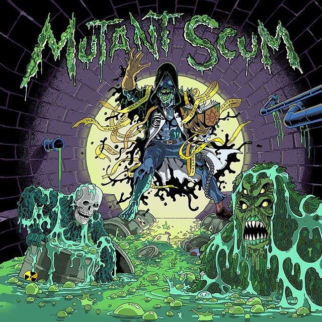 MAJOR MOMENT: @mutant_scum album just dropped! Pre-order this sick vinyl record with killer sewer art by @barfcomics.  @williedictionary's independent record label @handstandrecords and environmental volunteer organization @sewernyc is behind it all, so listen to some sweet sludgy metal, support small business, AND help the environment all at once. Don't miss the Mutant Scum show on 12/6 at @knittingfactorybk, come say hi, I'm returning to NYC just for it