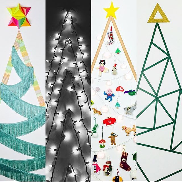 Still don't have a tree? Try any one of these 4 DIY Flat Christmas Trees that are easy enough to whip up tonight. Learn how in my video on @hgtvhandmade in the Holiday Home Tips & Projects playlist linked in my profile