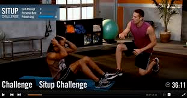 interactive streaming fitness video
