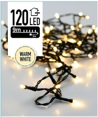 Kerstverlichting 120 LED's 9 meter warm wit