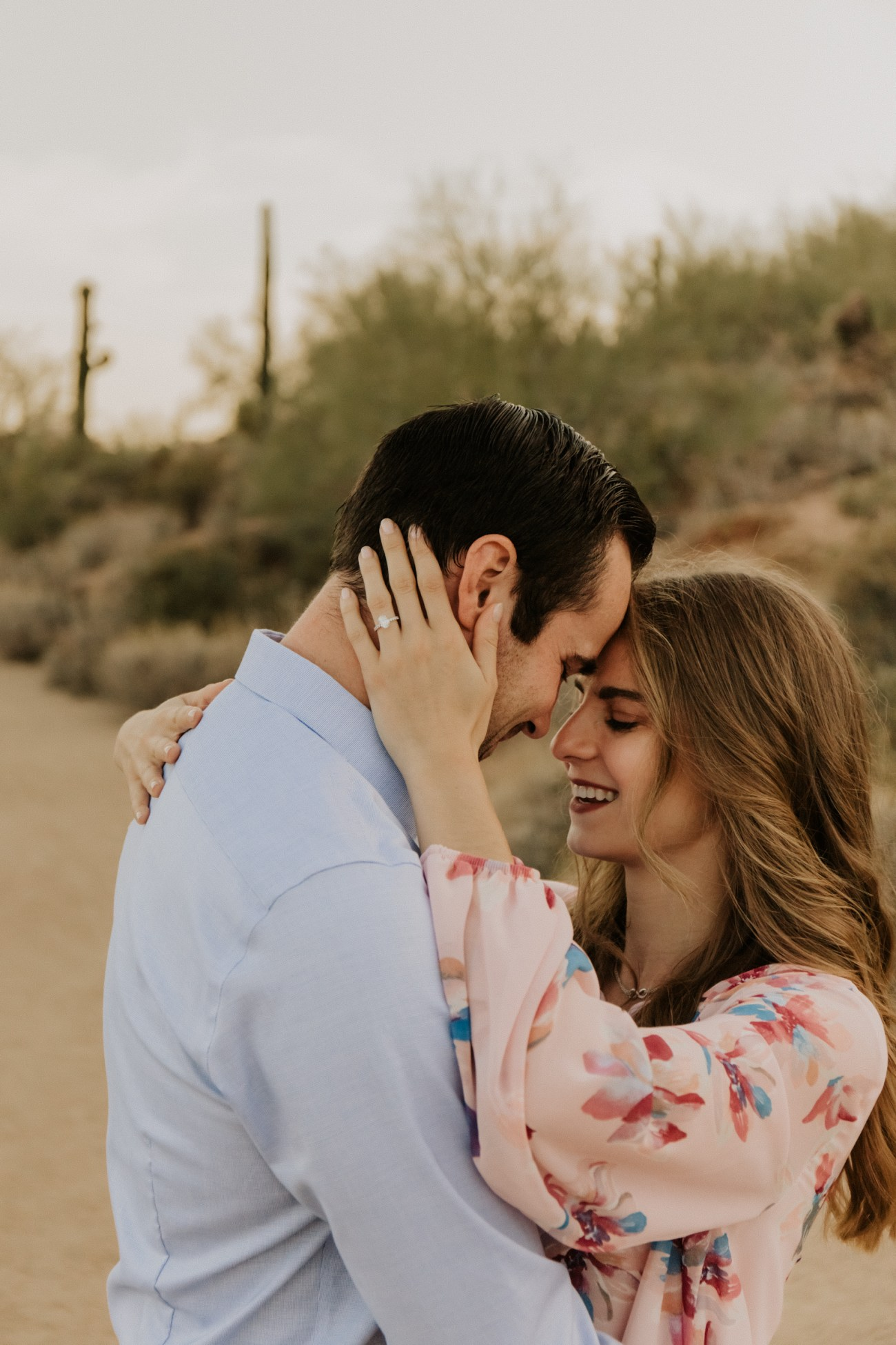 Megan Claire Photography | Arizona Wedding Photographer. Desert engagement portrait photoshoot. @meganclairephoto