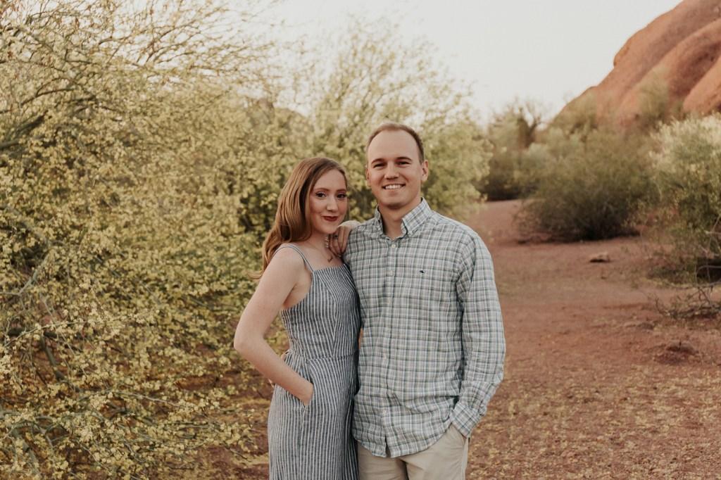 Megan Claire Photography | Arizona Wedding Photographer @meganclairephoto. Desert couples portrait and graduation photoshoot.
