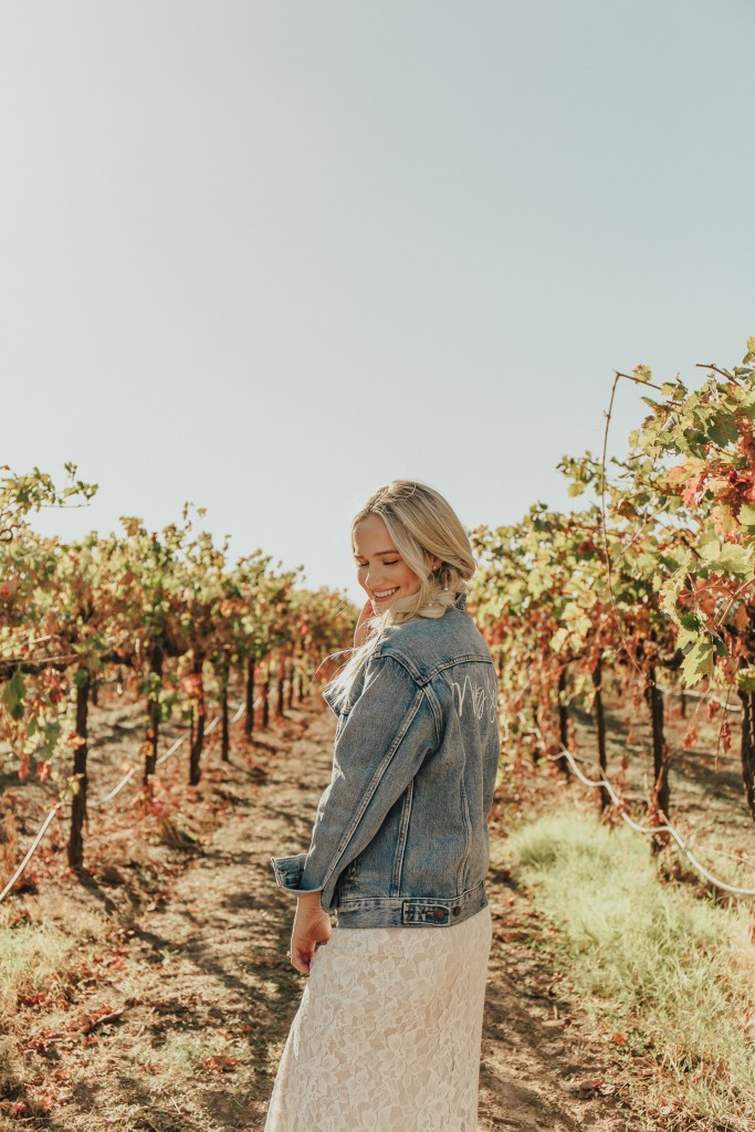 Megan Claire Photography | Northern California Wedding Photographer. Bohemian bridal portraits in vineyard @meganclairephoto