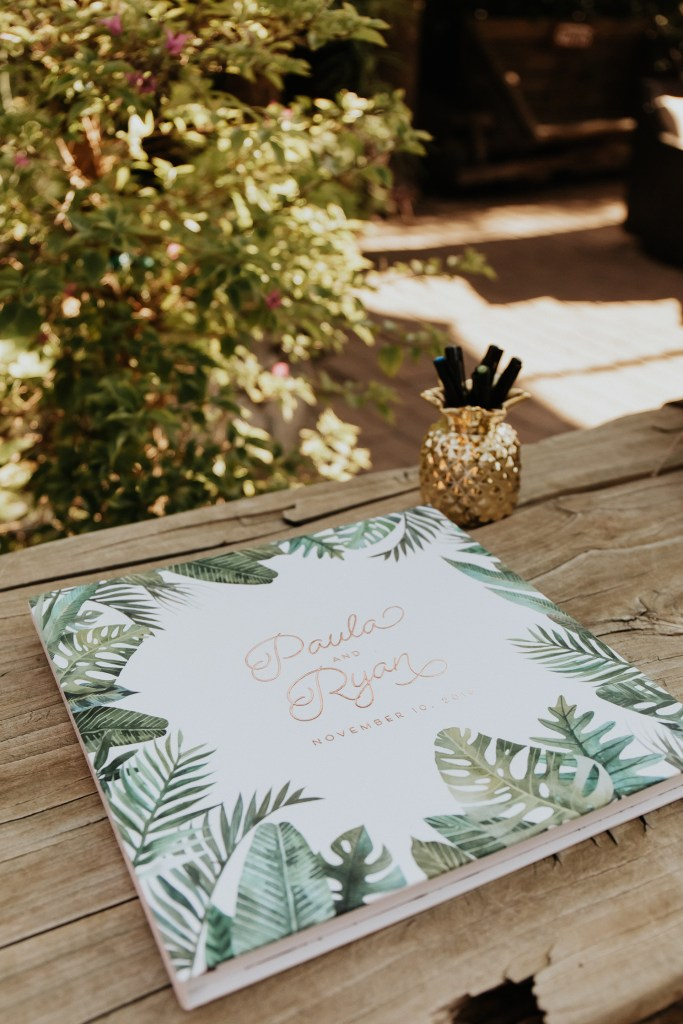 Megan Claire Photography | Arizona Wedding Photographer. Vintage inspired greenhouse arboretum wedding guest book  @meganclairephoto