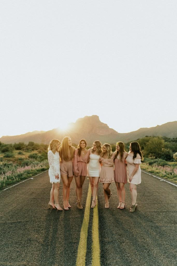 Megan Claire Photography | Phoenix Arizona Wedding and Engagement Photographer. Arizona State University Delta Gamma sorority group portrait photoshoot @meganclairephoto