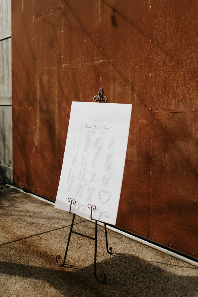 Megan Claire Photography | Arizona Wedding Photographer. Beautiful winter wedding in the desert at the Paseo in Apache Junction, Arizona near superstition mountains. Reception seating chart