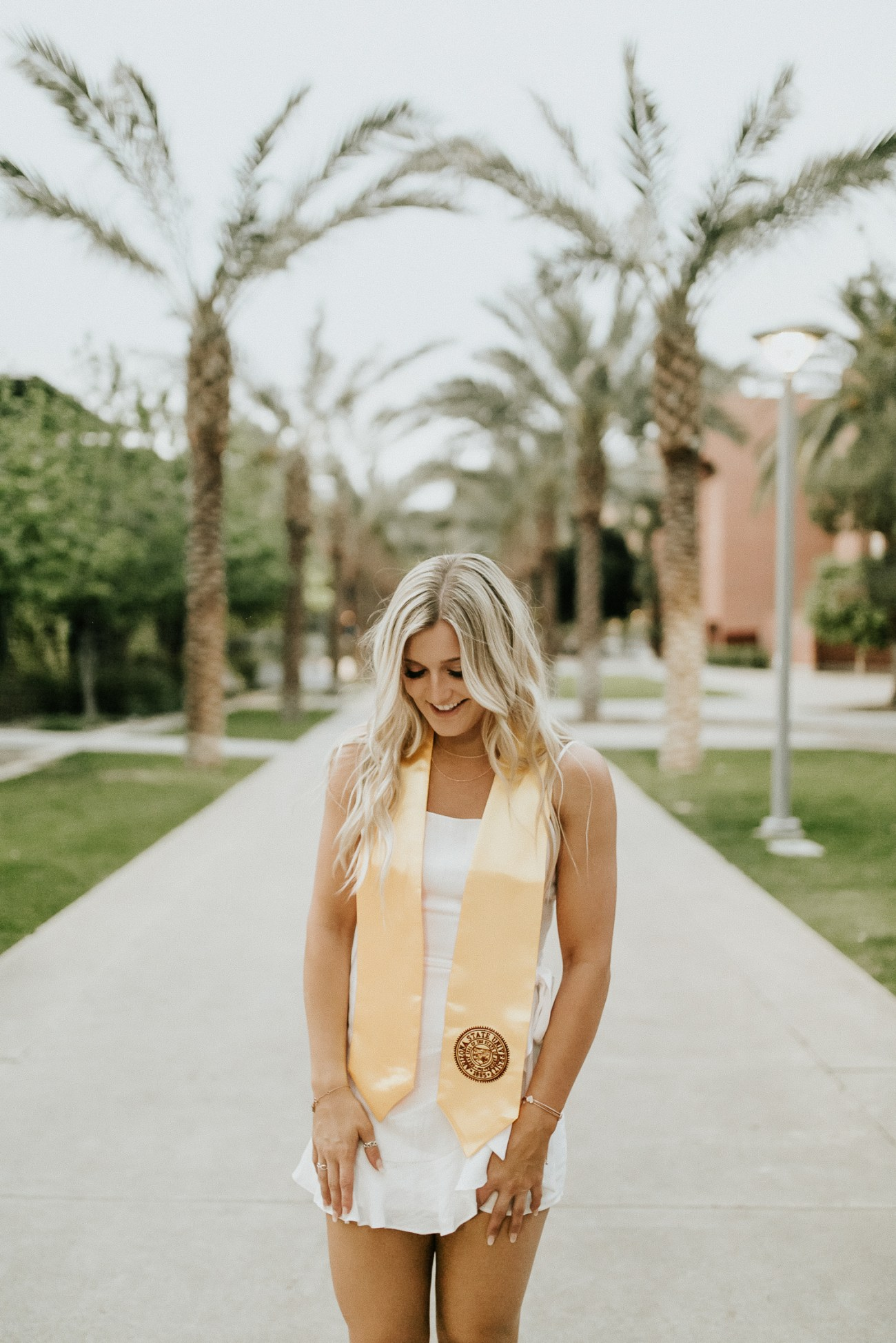 Megan Claire Photography | Phoenix Arizona Wedding and Engagement Photographer. Arizona State University grad photoshoot. Graduation photos at Old Main @meganclairephoto