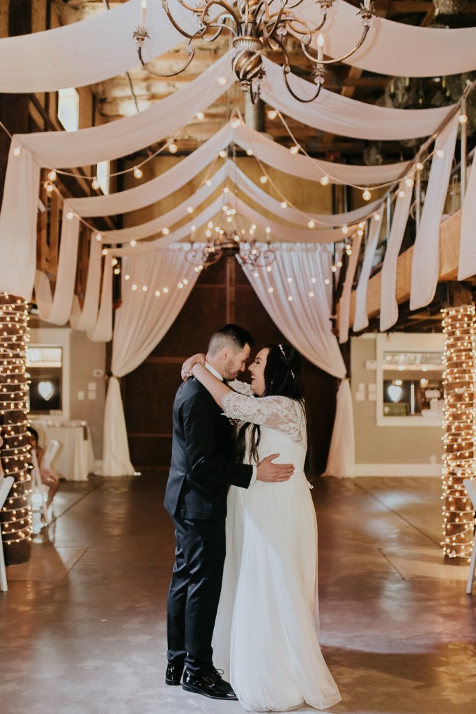 Megan Claire Photography | Arizona Wedding Photographer. Beautiful church wedding. Bride  and Groom wedding reception at elegant barn in Gilbert, Arizona
