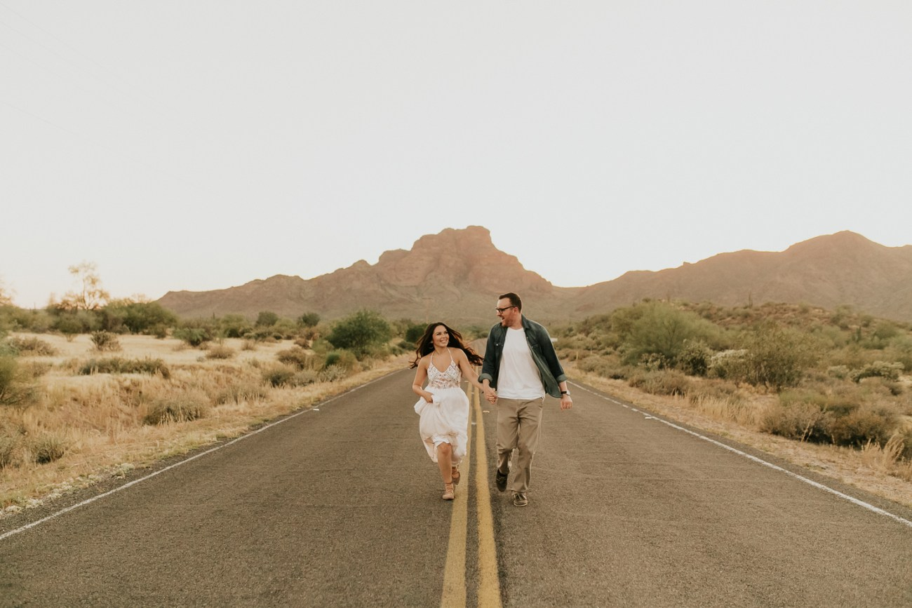 Megan Claire Photography   Phoenix Arizona Wedding and Engagement Photographer.  arizona desert engagement session at sunset @meganclairephoto
