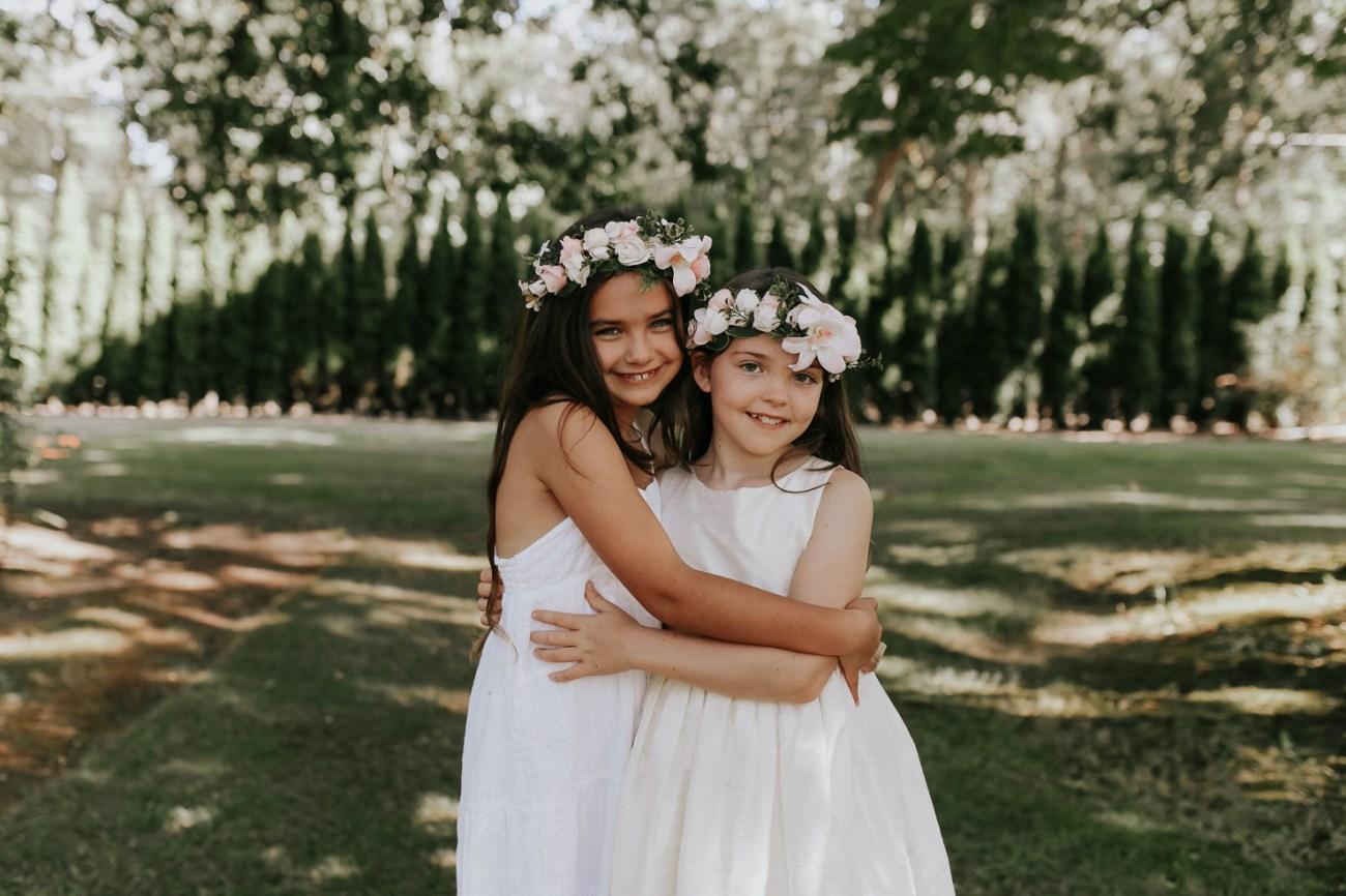 Megan Claire Photography | Arizona Wedding Photographer | Megan-Claire.com | Beautiful summer wedding in Portland, Oregon. Summer forest wedding inspiration. Bridesmaids in blush pink