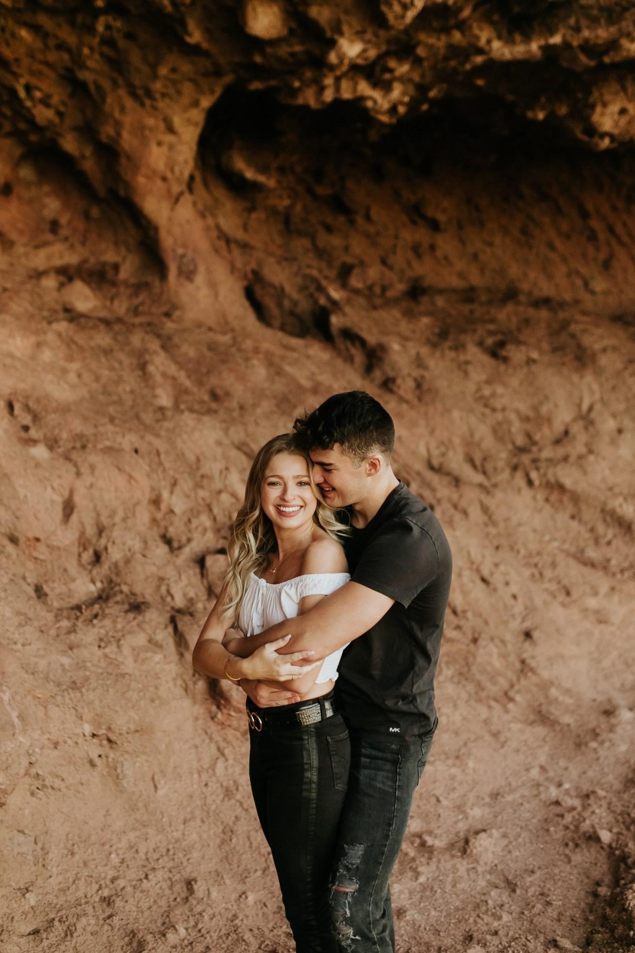 Megan Claire Photography | Arizona Wedding and Engagement Photographer. adventurous arizona desert couples session red rocks @meganclairephoto