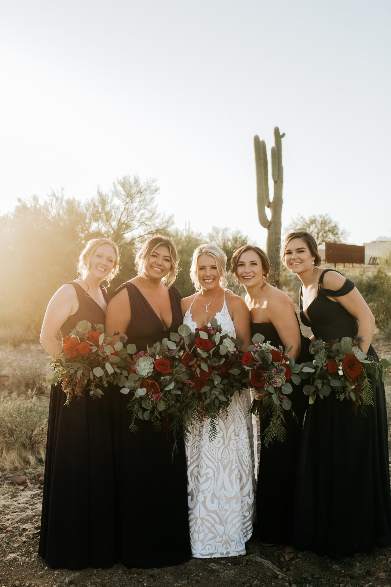 Megan Claire Photography | Arizona Wedding Photographer. Beautiful fall wedding in the desert at the Paseo in Apache Junction, Arizona near superstition mountains. bridal party photos @meganclairephoto