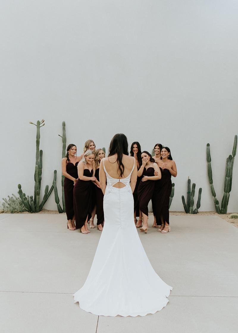 Megan Claire Photography | Arizona Wedding Photographer. Megan-Claire.com  Scottsdale Arizona Resort Wedding at Andaz Resort. Bridal party photos @meganclairephoto