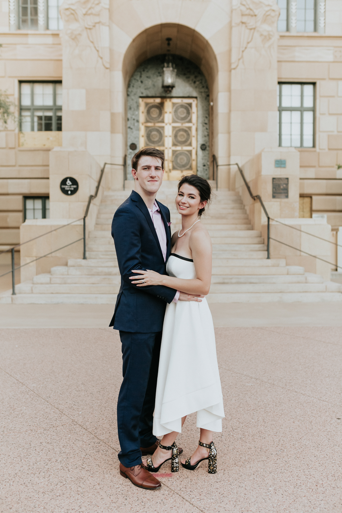 Megan Claire Photography | Phoenix Arizona Courthouse Wedding , Art Deco inspired wedding, vintage inspired wedding, arizona elopement photography, intimate wedding inspiration