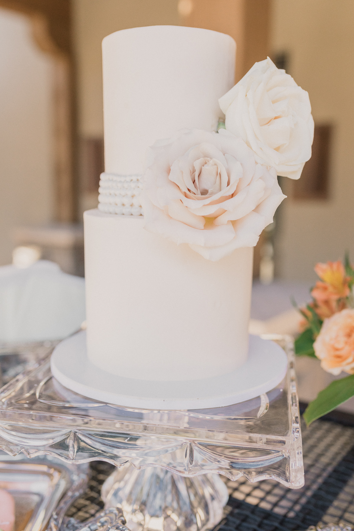 Megan Claire Photography | Arizona Wedding Photographer.  Elegant Scottsdale Backyard Wedding Cake