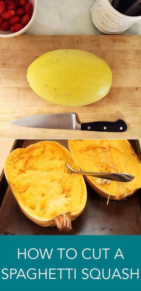 how to cut a spaghetti squash