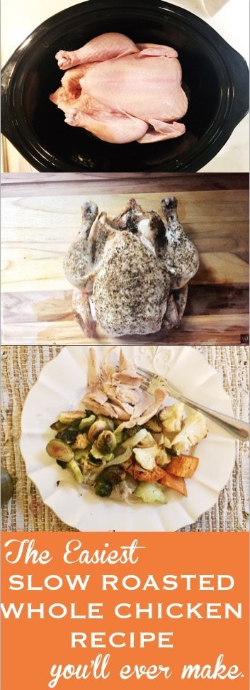 Whole Chicken Slow Cooker Recipe, The Easiest Roasted ...