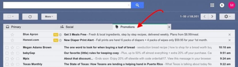 how to move emails to primary inbox in gmail