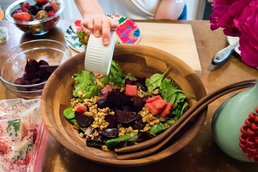 beet and watermelon salad