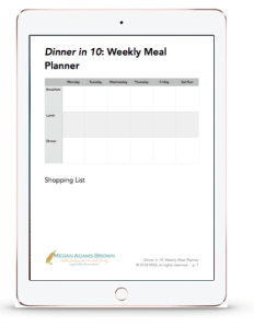 meal planner preview