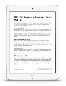 restaurant ordering tips preview