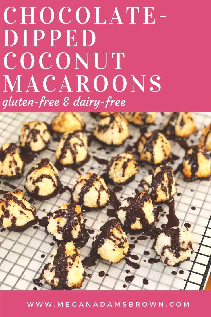 easy chcoolate dipped coconut macaroons