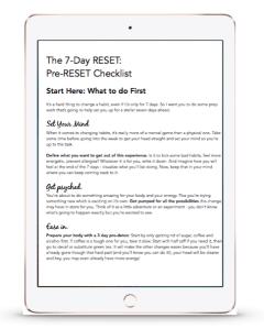pre-reset checkist