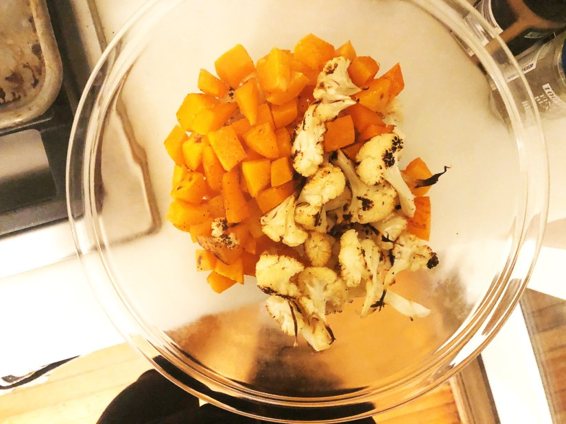butternut squash and cauliflower