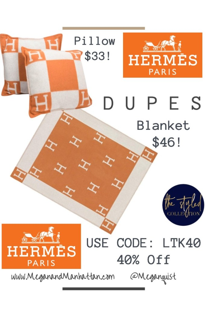 "Hermes Avalon Throw Blanket ""H"" Blanket DUPES! Amazon Exact Match $45.00"