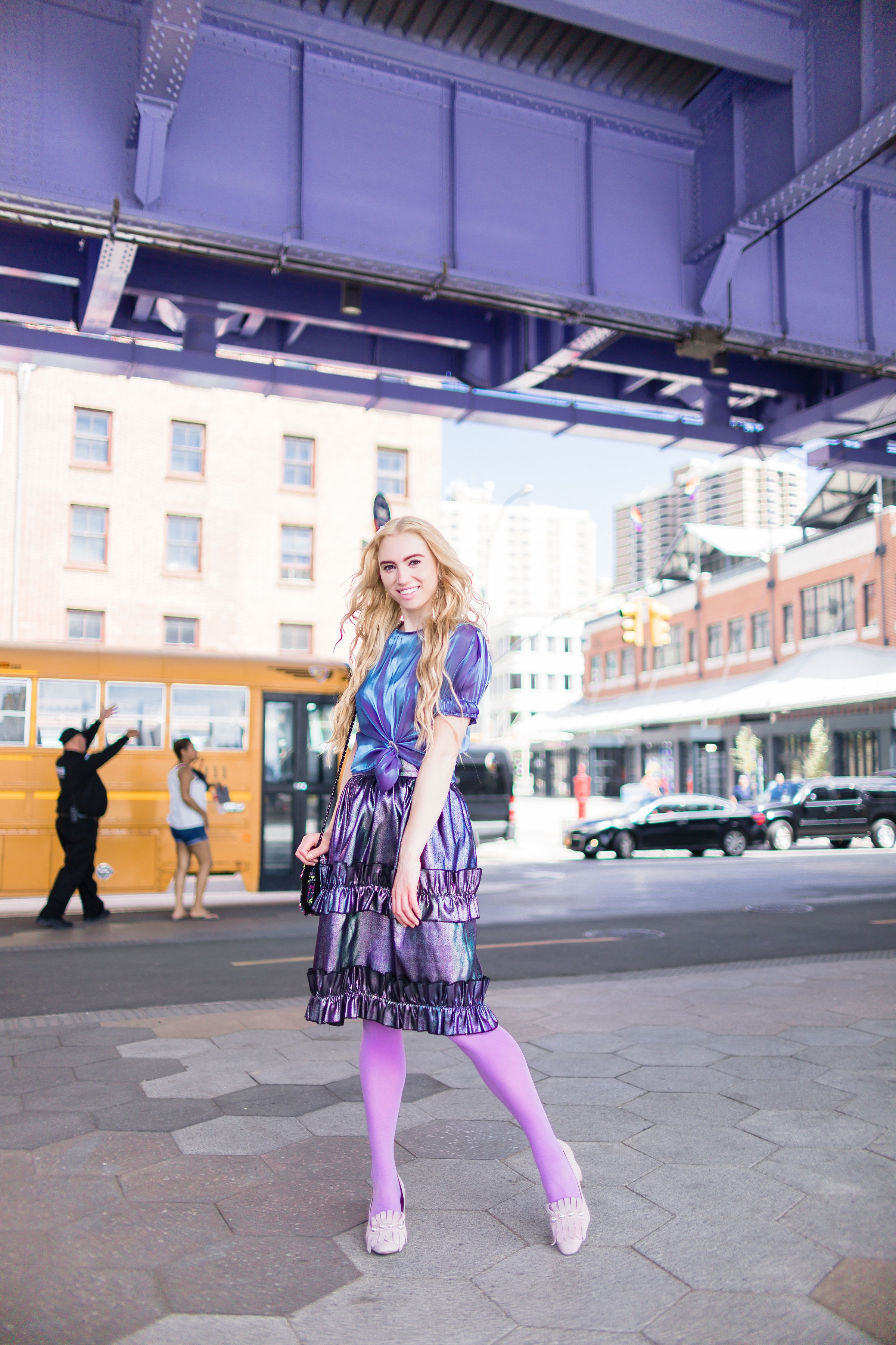 Monochrome Purple Look  The Easiest Outfit to Put Together in Your Closet   Some Shelly
