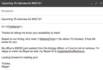 MailMerge email