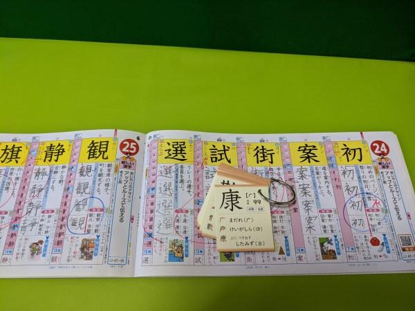 漢字ドリルとミチムラ式漢字カード