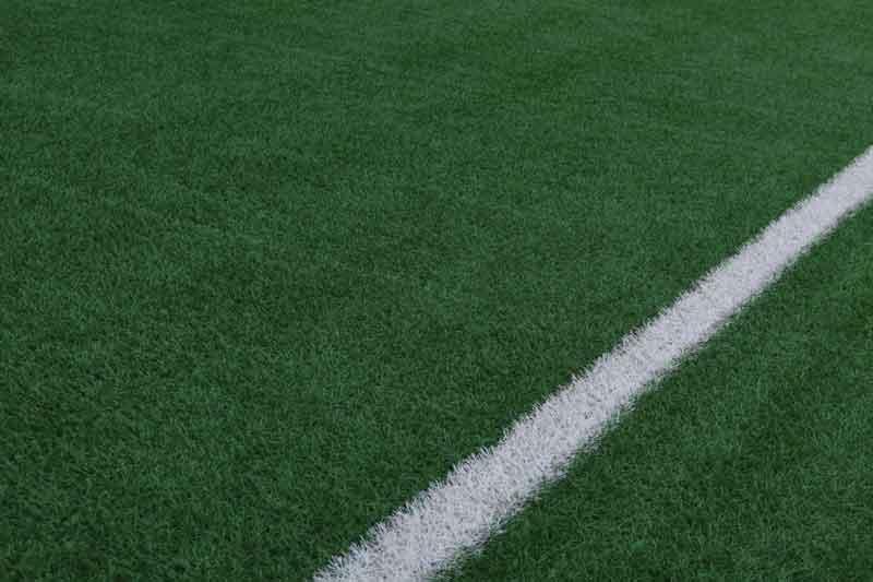 サッカーコートのライン