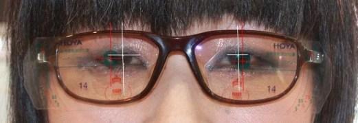 目とレンズ中心の不一致