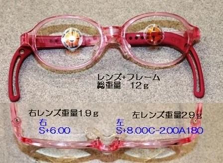 子供メガネ仕上り概要