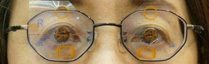 眼鏡実装 中心確認