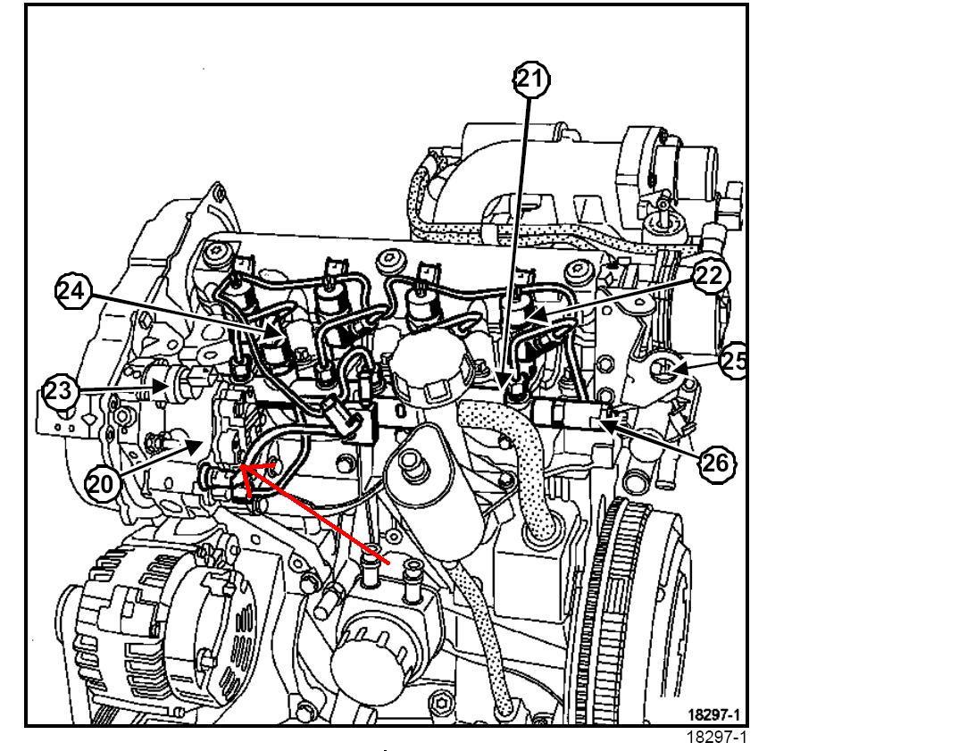 [Megane II phII] Schemat silnika a konkretnie przewodów