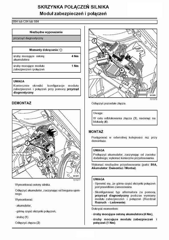 [Megane II phI] Bezpieczniki pod maską MEGANE II 2004r