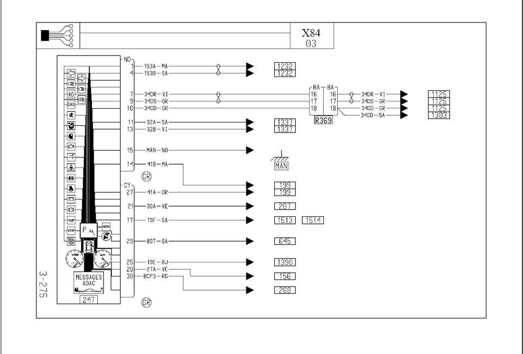 [Megane II phI] RENAULT MEGANE 04R Schemat licznika