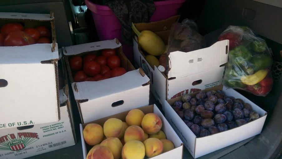 Fruit buy in Keremeos - an annual tradition.