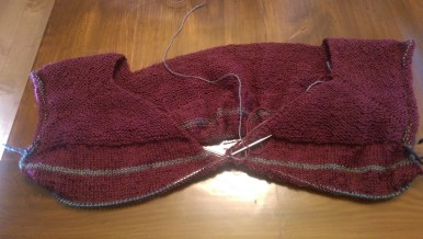 Started my first-ever knit sweater!
