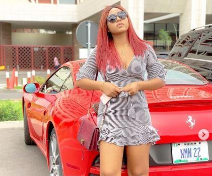 Photos: Actress Regina Daniels Steps Out In Husband's Customized Ferrari